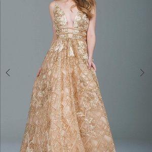 Jovani gold dress